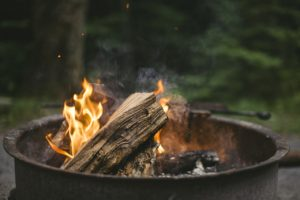 Logs in a firepit