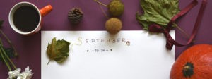 A September to-do list with coffee and fruit