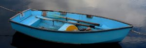 A rowboat on water