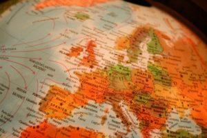Photo of a world globe