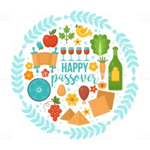 Decorative image of various Passover items