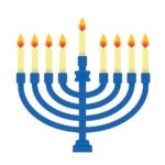 Drawing of a menorah